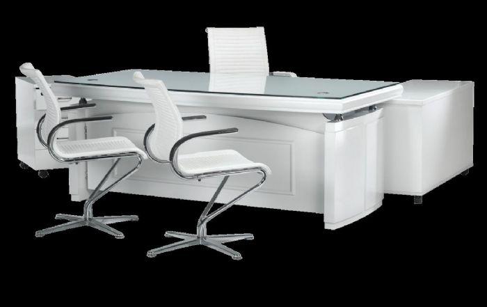 מסודר אופיס לנד ריהוט משרדי וכסאות לכל מטרה - סנאטור 06 לבן עם זכוכית JC-87